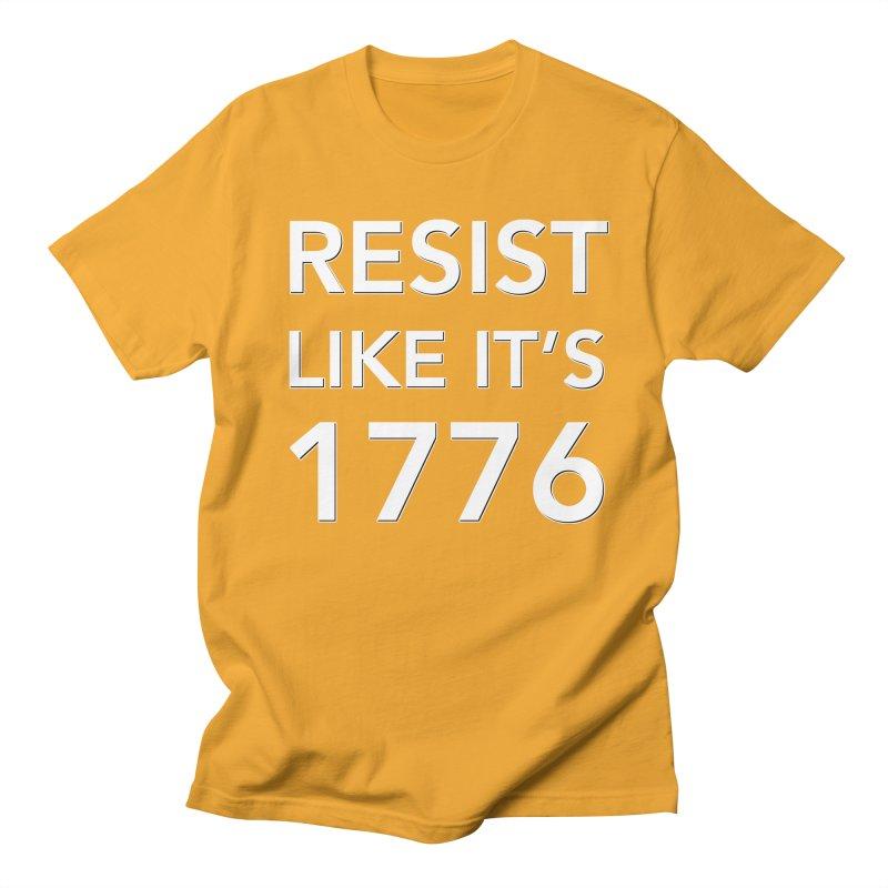 Resist Like it's 1776 —for dark backgrounds Men's Regular T-Shirt by Resistance Merch