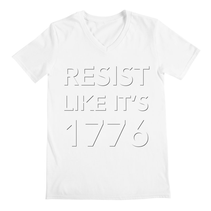 Resist Like it's 1776 — for dark backgrounds Men's Regular V-Neck by Resistance Merch