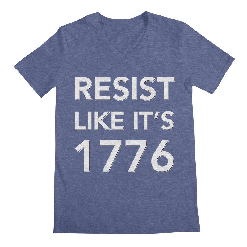 Resist Like it's 1776 —for dark backgrounds Men's Regular V-Neck by Resistance Merch