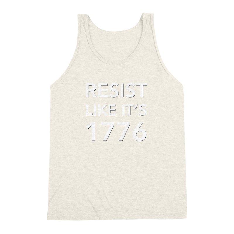 Resist Like it's 1776 —for dark backgrounds Men's Triblend Tank by Resistance Merch