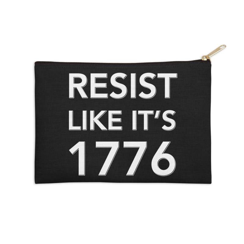 Resist Like it's 1776 — for dark backgrounds Accessories Zip Pouch by Resistance Merch