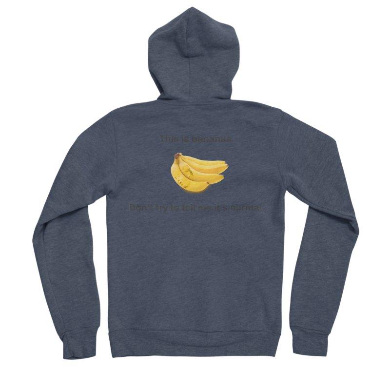Bananas Women's Sponge Fleece Zip-Up Hoody by Resistance Merch