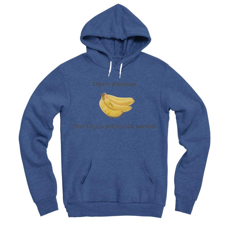 Bananas Women's Sponge Fleece Pullover Hoody by Resistance Merch
