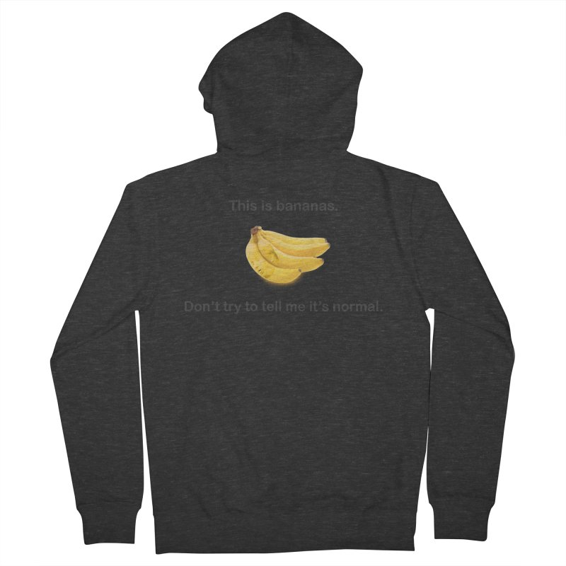 Bananas Women's French Terry Zip-Up Hoody by Resistance Merch