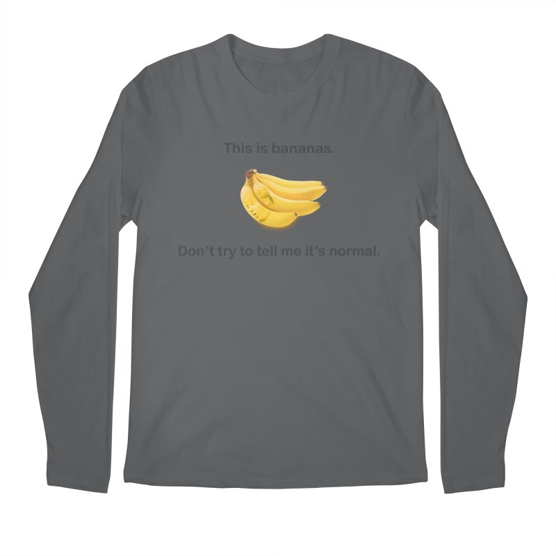 Bananas Men's Longsleeve T-Shirt by Resistance Merch