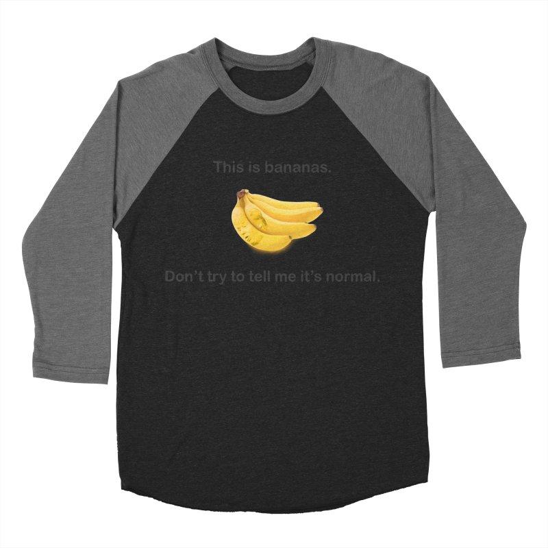 Bananas Men's Baseball Triblend Longsleeve T-Shirt by Resistance Merch