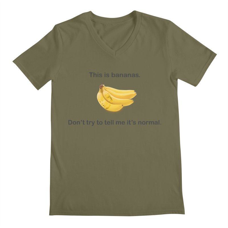 Bananas Men's Regular V-Neck by Resistance Merch
