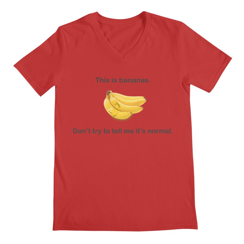 Bananas Men's Regular V-Neck by Resistance Merch