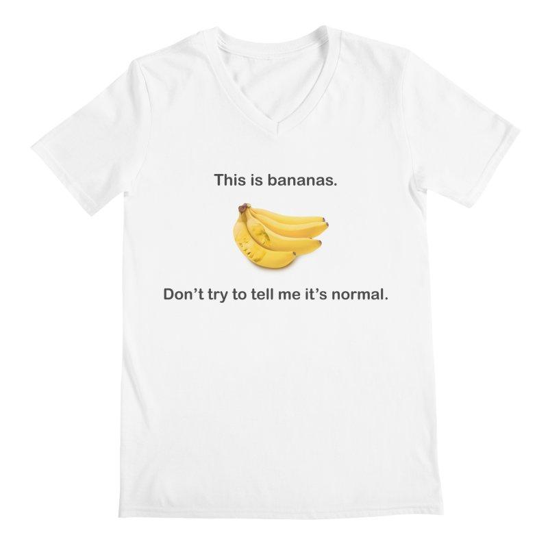 Bananas Men's V-Neck by Resistance Merch