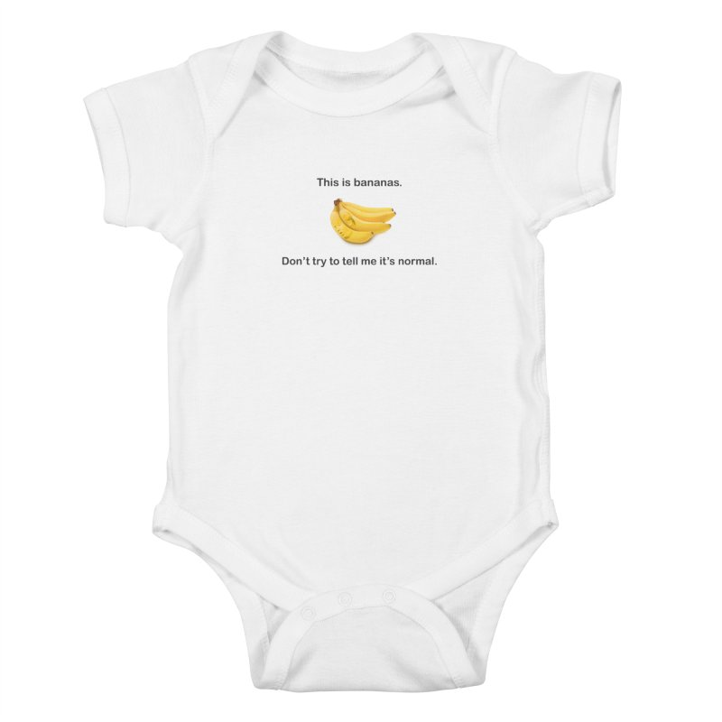 Bananas Kids Baby Bodysuit by Resistance Merch