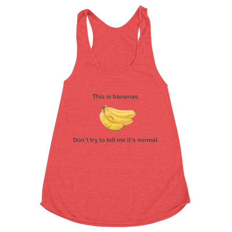 Bananas Women's Racerback Triblend Tank by Resistance Merch