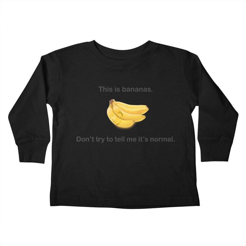 Bananas Kids Toddler Longsleeve T-Shirt by Resistance Merch