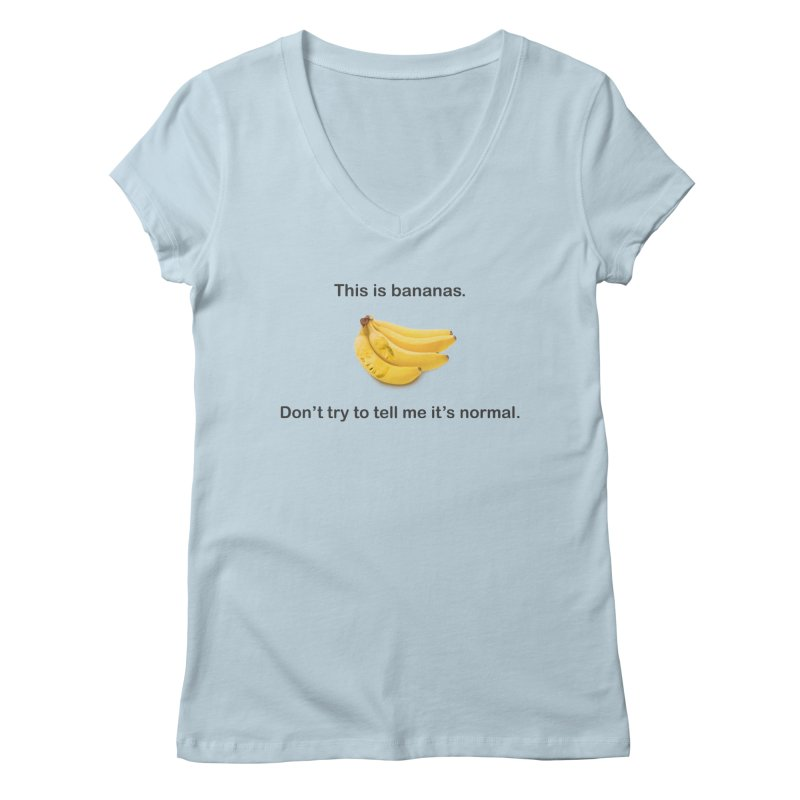 Bananas Women's Regular V-Neck by Resistance Merch
