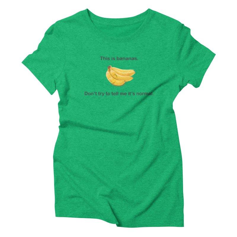 Bananas Women's Triblend T-Shirt by Resistance Merch