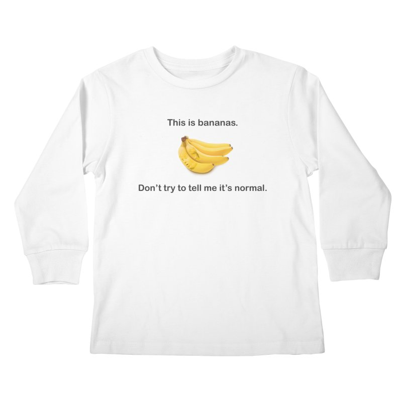 Bananas Kids Longsleeve T-Shirt by Resistance Merch