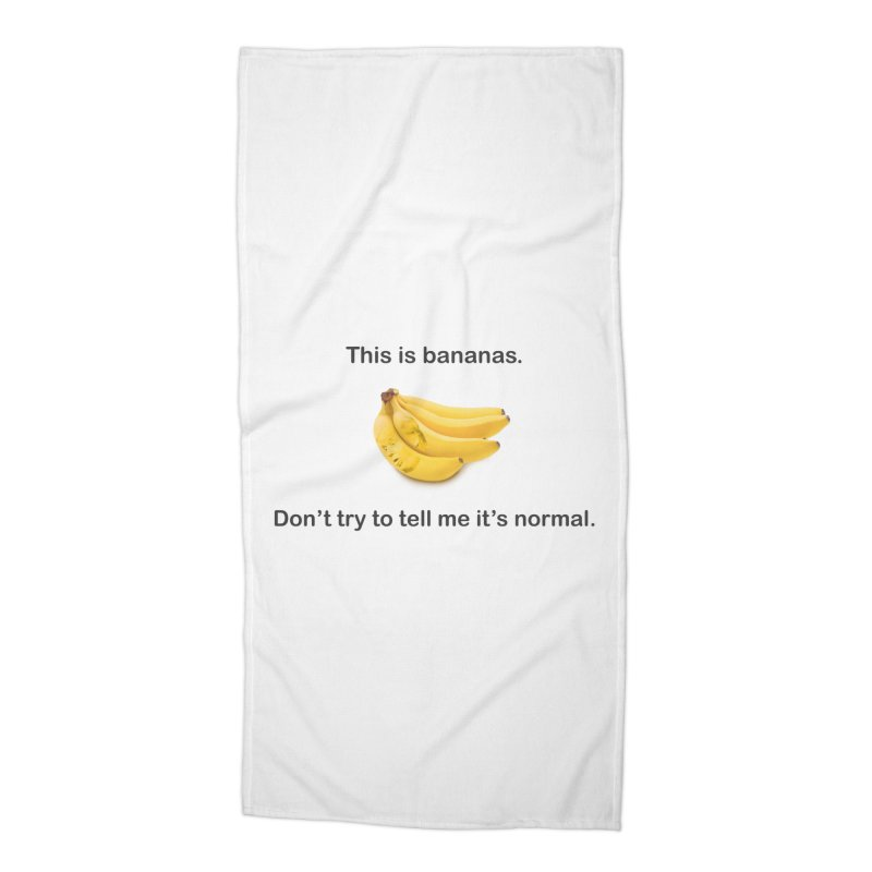 Bananas Accessories Beach Towel by Resistance Merch
