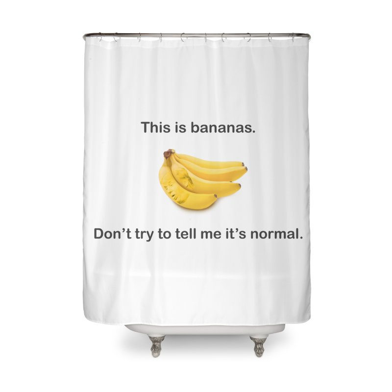 Bananas Home Shower Curtain by Resistance Merch