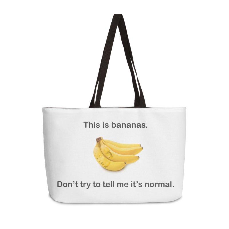 Bananas Accessories Weekender Bag Bag by Resistance Merch