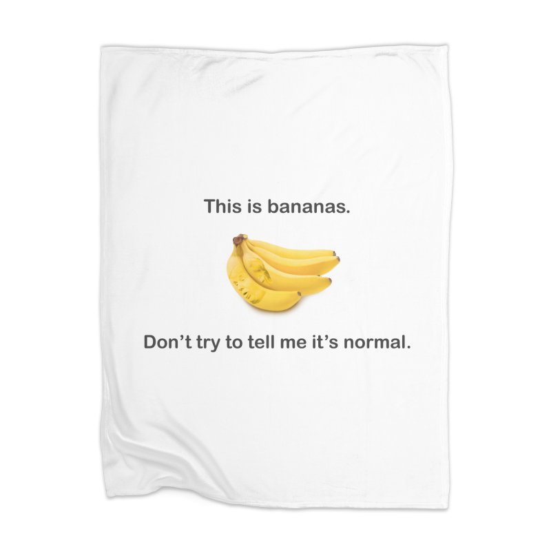 Bananas Home Blanket by Resistance Merch