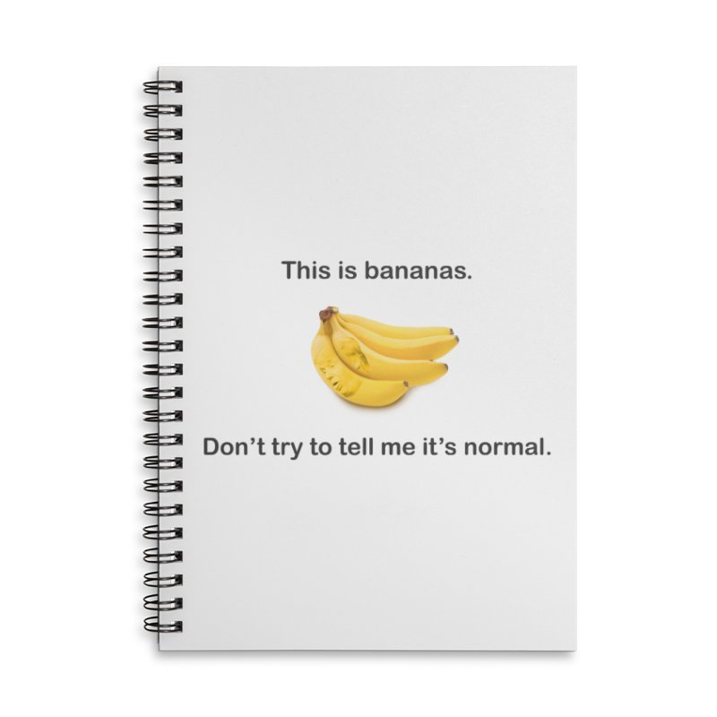 Bananas Accessories Lined Spiral Notebook by Resistance Merch