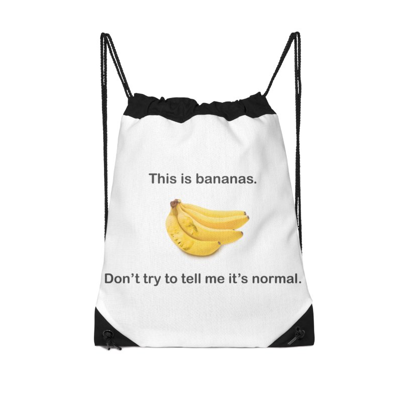 Bananas Accessories Drawstring Bag Bag by Resistance Merch