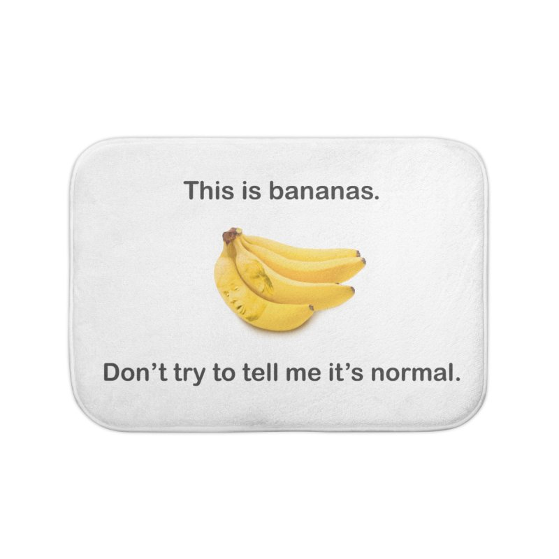 Bananas Home Bath Mat by Resistance Merch