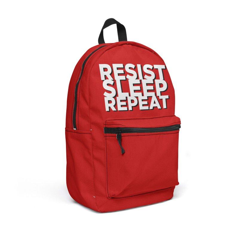 Resist Sleep Repeat Accessories Backpack Bag by Resistance Merch