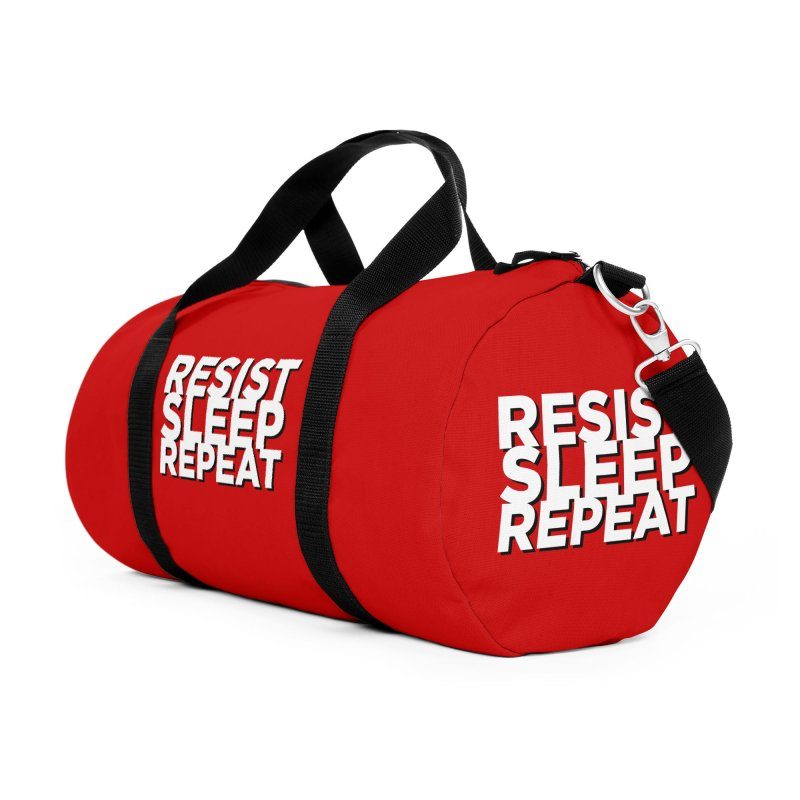 Resist Sleep Repeat Accessories Duffel Bag Bag by Resistance Merch