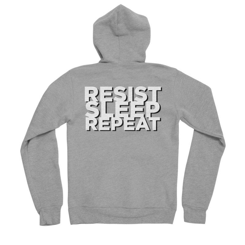 Resist Sleep Repeat Men's Sponge Fleece Zip-Up Hoody by Resistance Merch