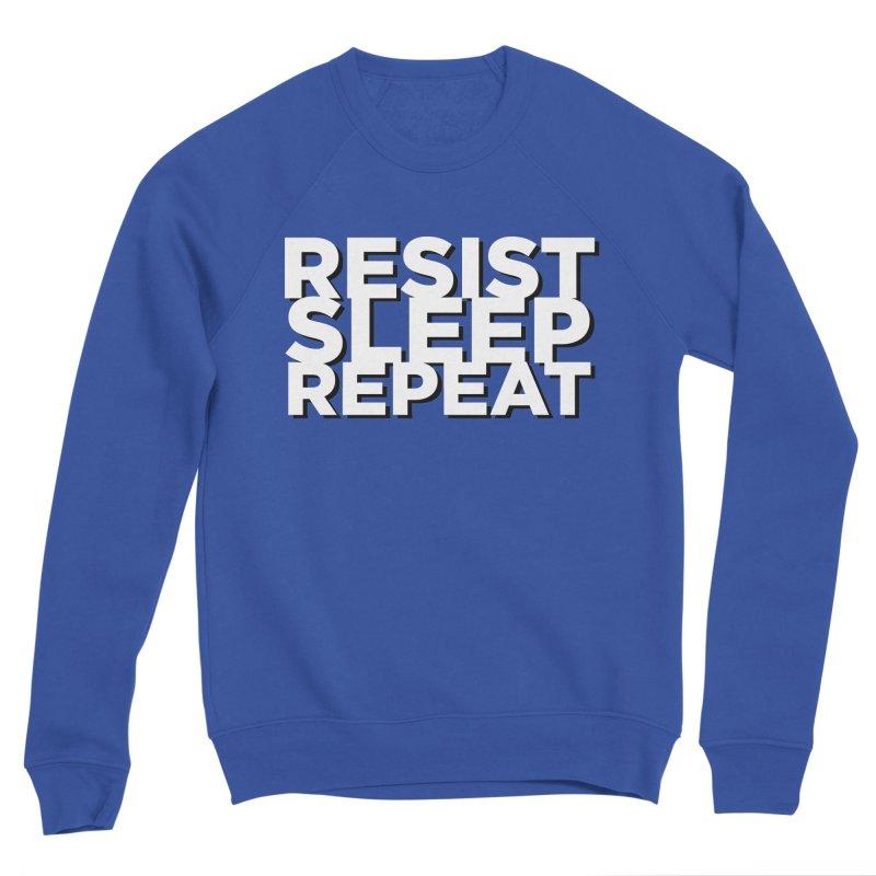Resist Sleep Repeat Men's Sponge Fleece Sweatshirt by Resistance Merch