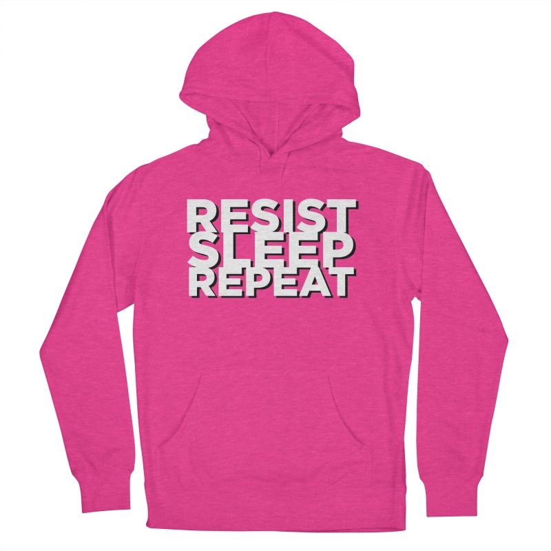 Resist Sleep Repeat Women's French Terry Pullover Hoody by Resistance Merch