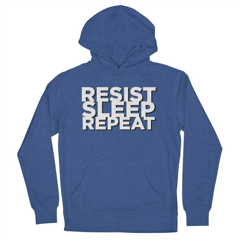 Resist Sleep Repeat Men's French Terry Pullover Hoody by Resistance Merch
