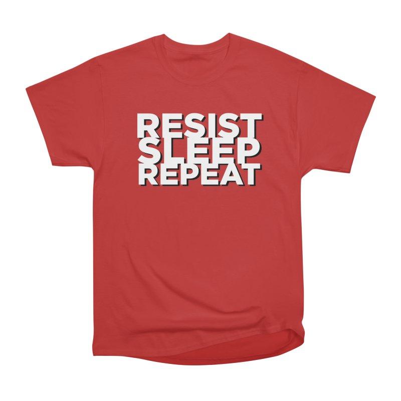 Resist Sleep Repeat Men's Heavyweight T-Shirt by Resistance Merch
