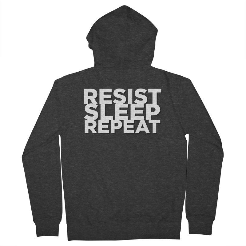 Resist Sleep Repeat Men's French Terry Zip-Up Hoody by Resistance Merch