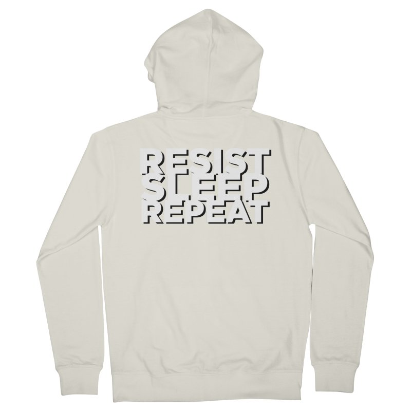 Resist Sleep Repeat Men's French Terry Zip-Up Hoody by Resistance Merch