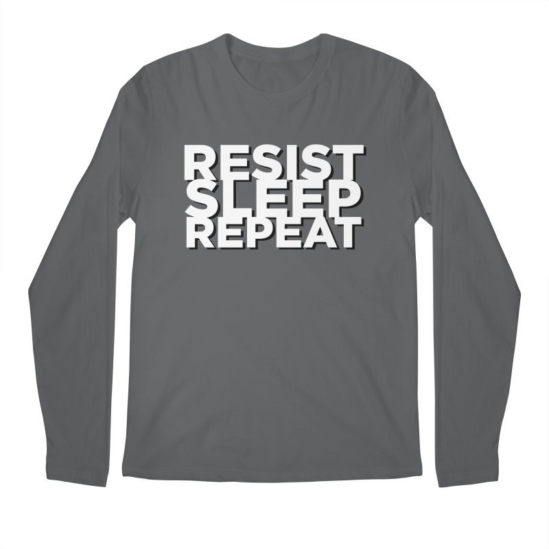 Resist Sleep Repeat Men's Regular Longsleeve T-Shirt by Resistance Merch