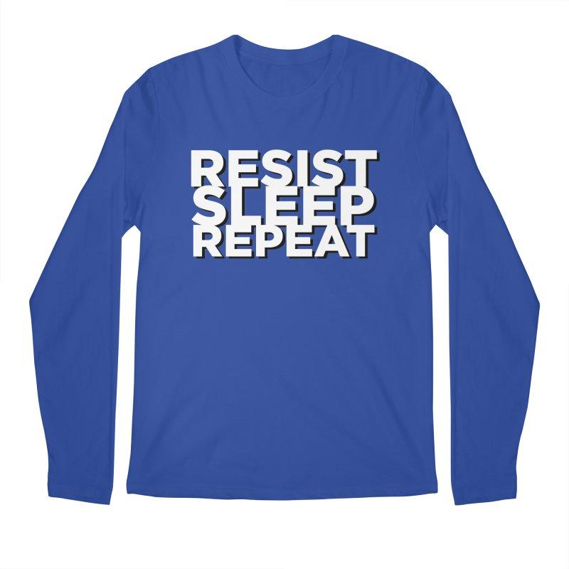 Resist Sleep Repeat Men's Regular Longsleeve T-Shirt by Resistance Merch