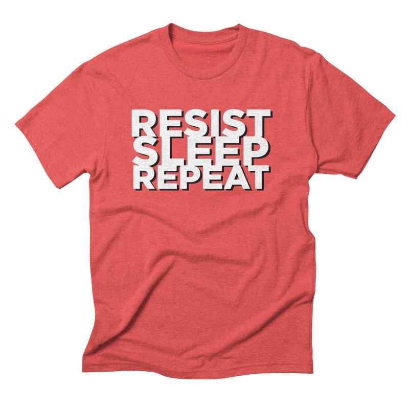 Resist Sleep Repeat Men's Triblend T-Shirt by Resistance Merch