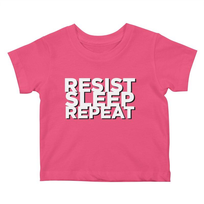 Resist Sleep Repeat Kids Baby T-Shirt by Resistance Merch