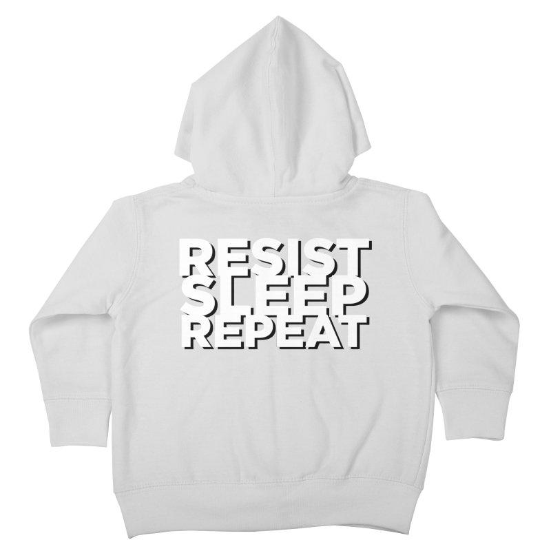 Resist Sleep Repeat Kids Toddler Zip-Up Hoody by Resistance Merch
