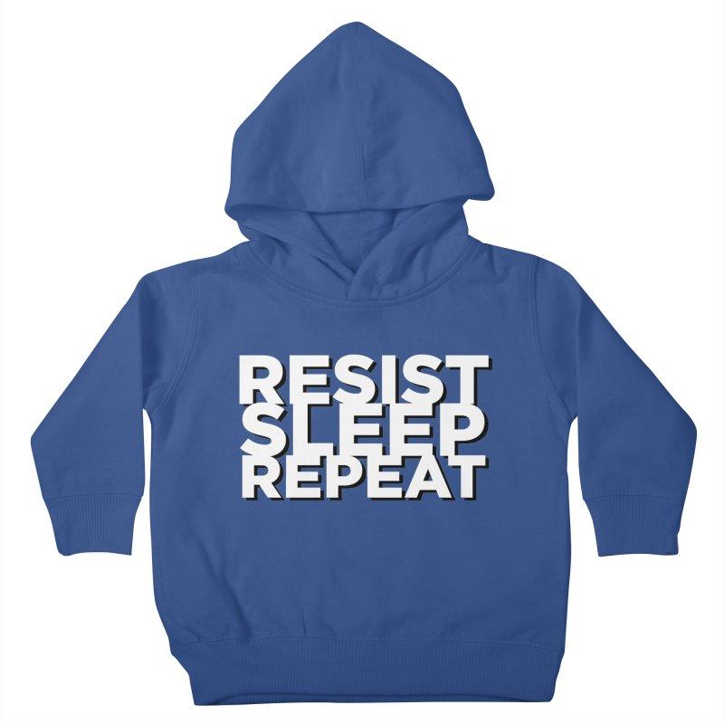 Resist Sleep Repeat Kids Toddler Pullover Hoody by Resistance Merch