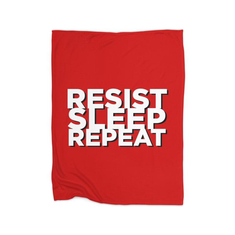 Resist Sleep Repeat Home Fleece Blanket Blanket by Resistance Merch