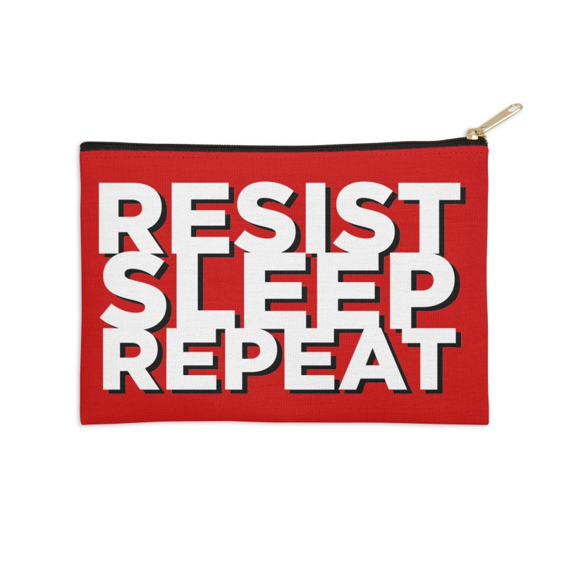 Resist Sleep Repeat Accessories Zip Pouch by Resistance Merch