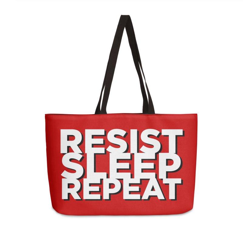 Resist Sleep Repeat Accessories Weekender Bag Bag by Resistance Merch