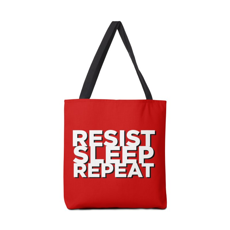Resist Sleep Repeat Accessories Tote Bag Bag by Resistance Merch