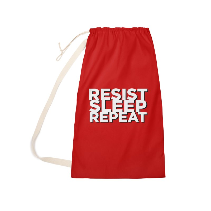 Resist Sleep Repeat Accessories Laundry Bag Bag by Resistance Merch