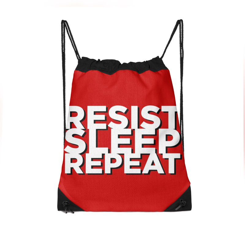 Resist Sleep Repeat Accessories Drawstring Bag Bag by Resistance Merch
