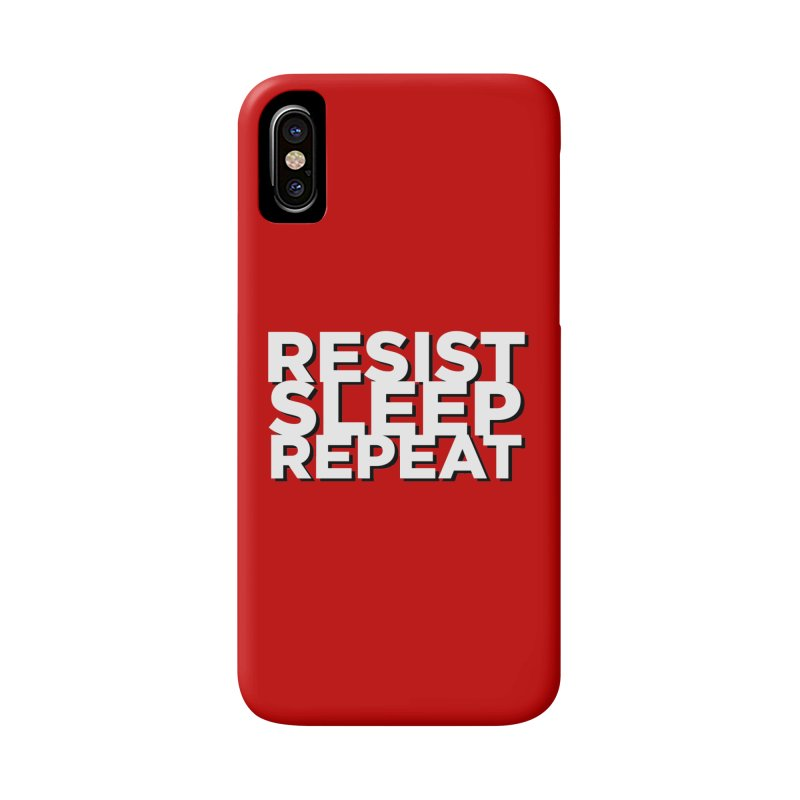 Resist Sleep Repeat Accessories Phone Case by Resistance Merch