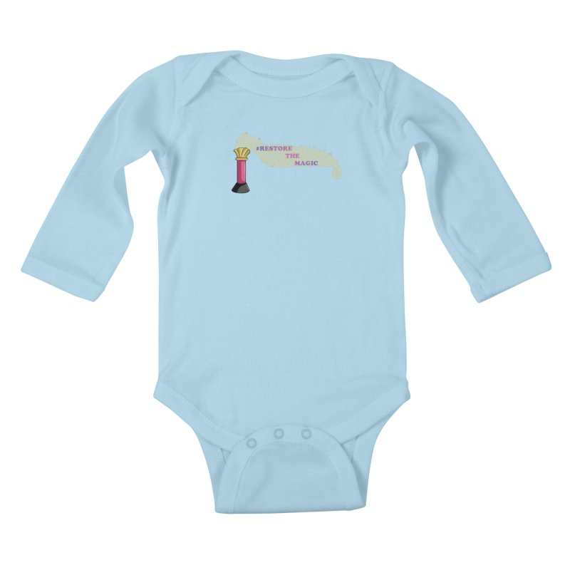 Restore The Magic Kids Baby Longsleeve Bodysuit by RestoreTheMagic's Artist Shop