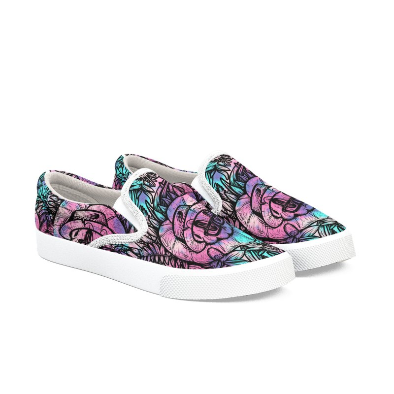 Backyard Mystery Women's Slip-On Shoes by RevengeLover's Corner of the Web